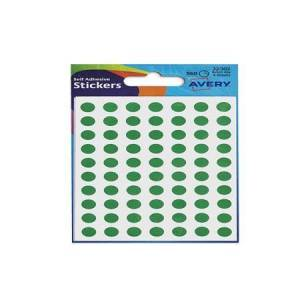 Avery Coloured Labels Round 8mm DIA Green (560 Labels)  PK10