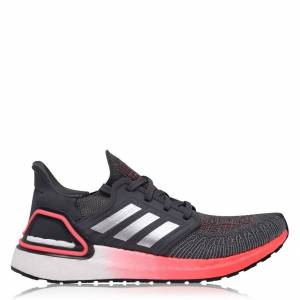 Adidas UltraBoost 20 Trainers Ladies  - Grey/Red - Size: 5 US7.5
