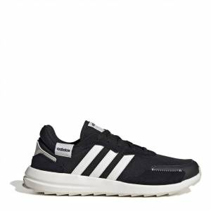 Adidas Retro Run Trainers Womens  - Black/White - Size: 6