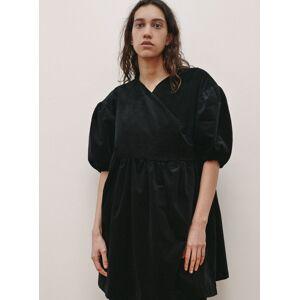 Young British Designers Black Organic Cotton Cord BABETTE DRESS by RIYKA