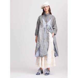 Young British Designers Maggie Grey Blue Coat by Renli Su