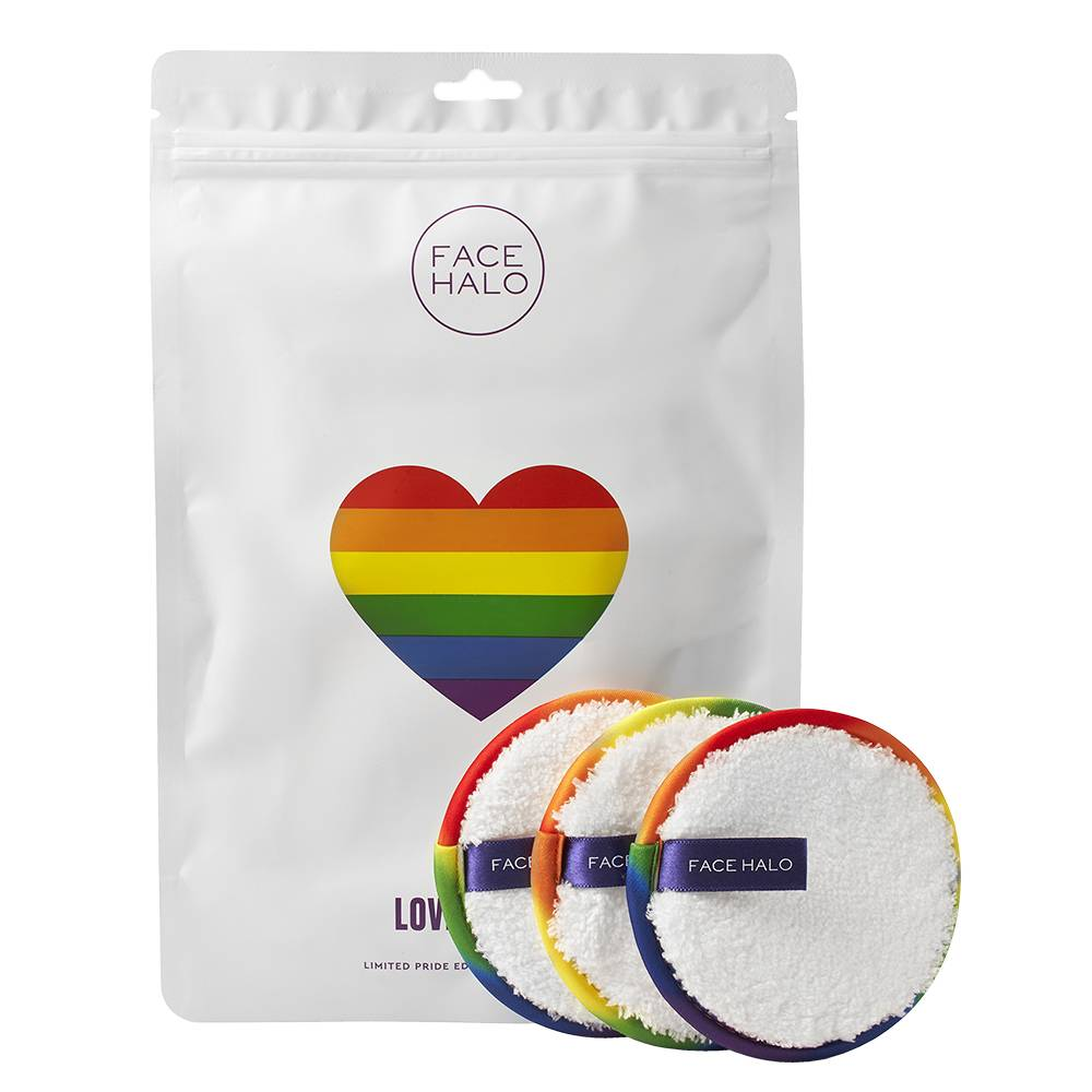 Face Halo Love is Love Makeup Remover Pads  Limited Edition 3pieces