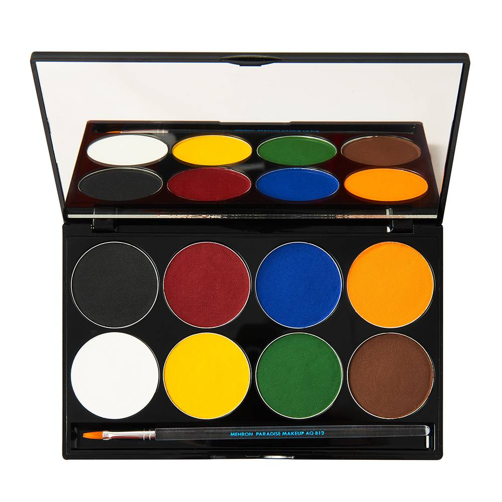 Mehron Paradise Makeup AQ 8 Color Palette Basic 48g