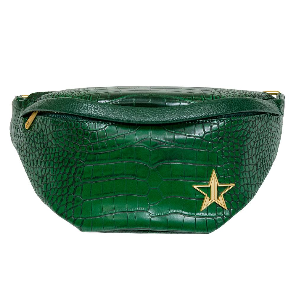 Jeffree Star Cosmetics Green Crocodile Cross Body Bag