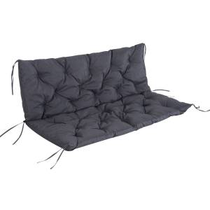 Outsunny 3-Seater Cushion,150Wx98Lx8T cm-Dark Grey
