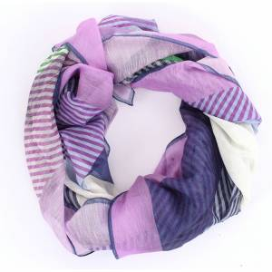 BARBA Scarves & Stoles Scarves Women Lilac and gray