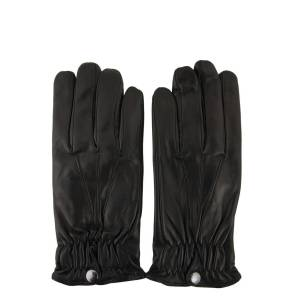 SERMONETA GLOVES MEN'S SG123542U4010 BLACK LEATHER GLOVES