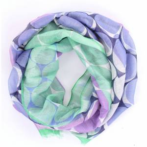 BARBA Scarves & Stoles Scarves Women Lilac and green
