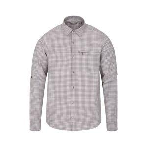 Mountain Warehouse Adventure II Mens Shirt - Grey  -male -Size: Small