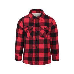 Mountain Warehouse Jackson Kids Shacket - Red  -unisex -Size: 13y
