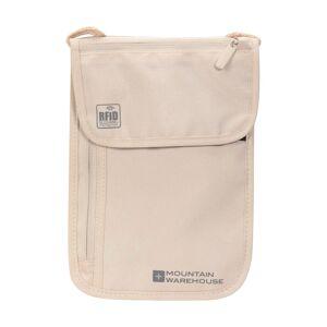 Mountain Warehouse RFID Neck Pouch - Beige  -unisex -Size: ONE