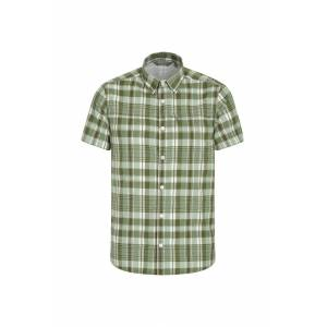 Mountain Warehouse Holiday Mens Cotton Shirt - Grey  -male -Size: Small