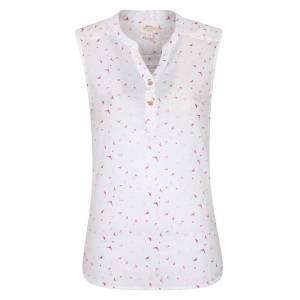 Mountain Warehouse Petra Womens Printed Sleeveless Shirt - Cream  -female -Size: 22