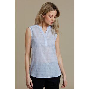 Mountain Warehouse Petra Womens Printed Sleeveless Shirt - Blue  -female -Size: 22