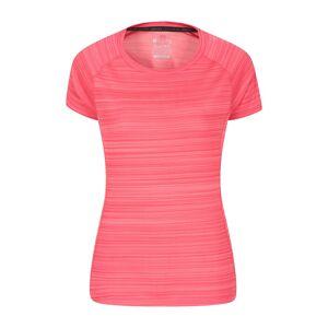 Mountain Warehouse Endurance Striped Womens Tee - Pink  -female -Size: 28
