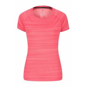 Mountain Warehouse Endurance Striped Womens Tee - Pink  -female -Size: 22