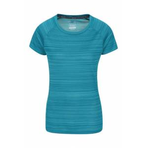 Mountain Warehouse Endurance Striped Womens Tee - Teal  -female -Size: 24