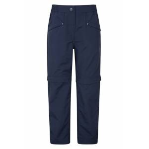 Mountain Warehouse Sahara Lightweight Ripstop Kids Trousers - Navy  -unisex -Size: 5-6y