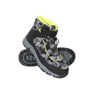 Mountain Warehouse Camo Waterproof Kids Boots - Black  -unisex -Size: 3