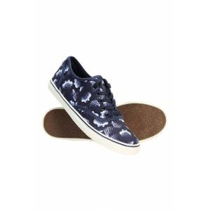 Mountain Warehouse Printed Canvas Womens Plimsolls - Navy  -female -Size: 4