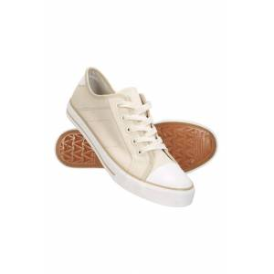Mountain Warehouse Womens Canvas Plimsoll Trainers - Beige  -female -Size: 6