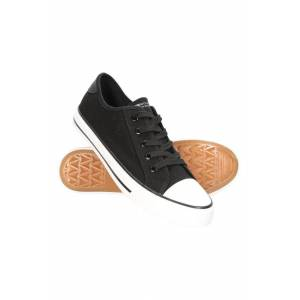 Mountain Warehouse Womens Canvas Plimsoll Trainers - Black  -female -Size: 5