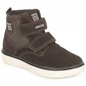 Geox  J RIDDOCK BOY  boys's Children's Shoes (High-top Trainers) in Brown