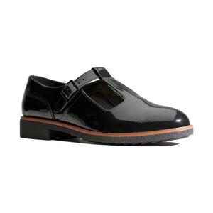 Clarks  Griffin Town Womens T-Bar Shoe  women's  in Black