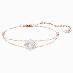 Swarovski Sunshine Bracelet, White, Rose-gold tone plated