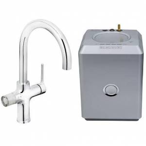 Bristan Gallery Rapid Boiling Water 4-In-1 Kitchen Mixer Tap - Chrome Finish with Tank and Filter - GLL RAPSNK4 C