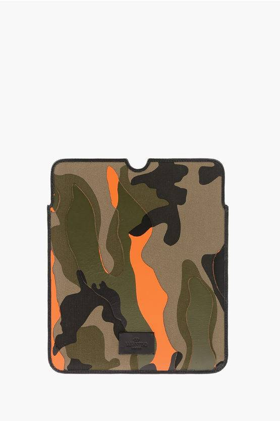 Valentino Leather Trim Camouflage Tablet Case size Unica