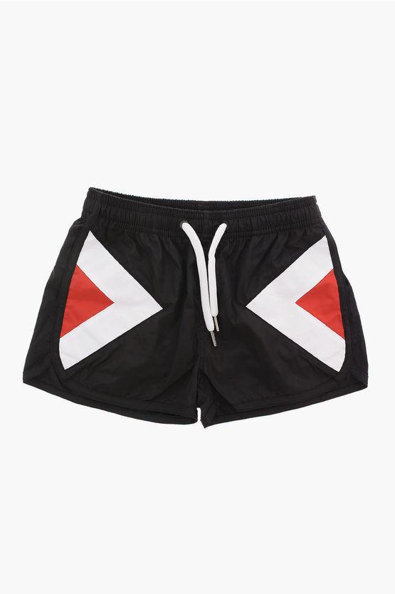 Neil Barrett Drawstring MODERNIST Board Shorts Swimwear size 8 Y