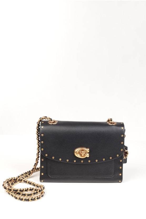 Coach Studded Leather Mini Shoulder Bag size Unica