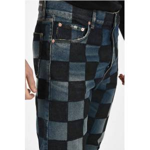 Balenciaga Checked Straight Fit Jeans 22cm size 32