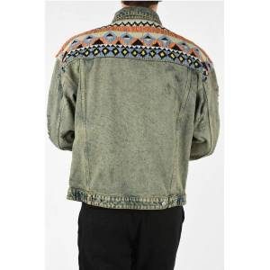 Alchemist Denim Jacket INDIANA with Beaded Embroideries size L
