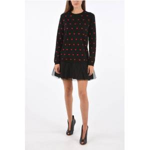 Red Valentino Embroidered Heart Mini Dress size Xs