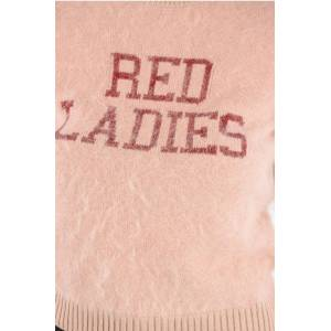 Red Valentino Lurex Embroidered RED LADIES fuzzy sweater size Xs