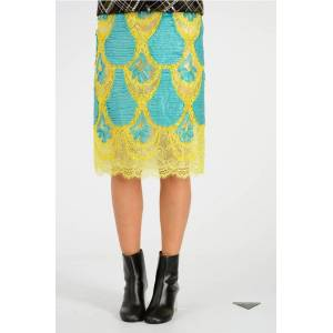 Maison Margiela MM0 Embroidery Laced Skirt size 42