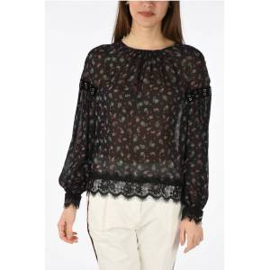 Pinko paisley GEORGETTE blouse size 40