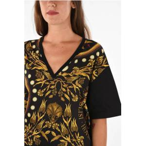 Fausto Puglisi Printed V-Neck T-Shirt size S