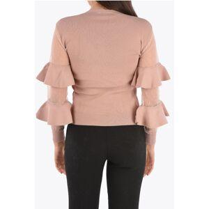 Red Valentino Ruffle Sleeve Crewneck Sweater size Xs