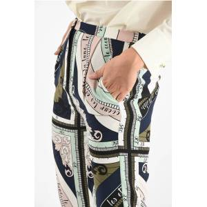 Tory Burch Silk Printed Flared Pant size 2