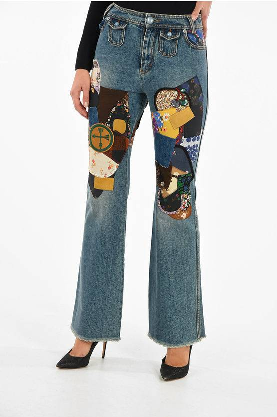 Coach embroidered bootcut jeans size 2