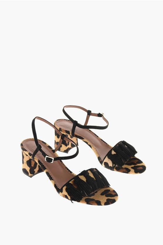 L'Autre Chose 6cm Leopard Printed Decolletè size 35