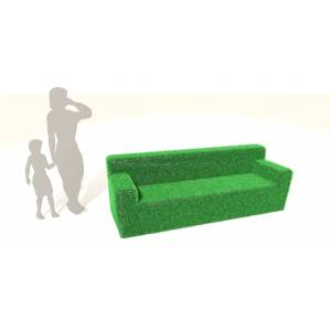 Timotay Playscapes Timotay Outdoor Sensory Grass Seating - Grass Sofa