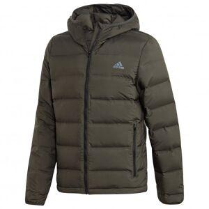 adidas - Helionic Hooded Jacket - Down jacket size S, black/olive