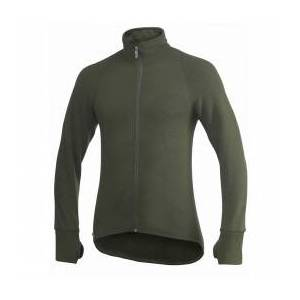 Woolpower - Full Zip Jacket 600 - Wool jacket size XXL, black/olive