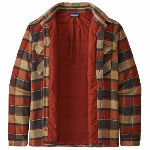 Patagonia - Insulated Fjord Flannel Jacket - Fleece jacket size XS, red/brown