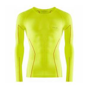 Falke - Shirt L/S Tight - Synthetic base layer size S, green/yellow