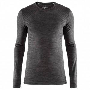 Craft - Fuseknit Comfort RN L/S - Synthetic base layer size XL, black/grey